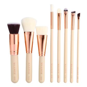 (Buy 1 Get 1 Free Gift) 8PCS Makeup Brushes Powder Eye Lip Cosmetic Tool(light color) - intl