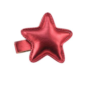 Buytra Sweet Nice Star Hairpin Girl Headband PU Red