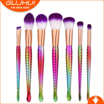 BYL Mermaid Series makeup brush fish tail brush hot sale
