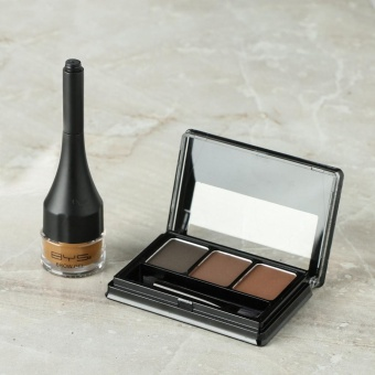 BYS Eyebrow Powder Kit and Brow Gel Set