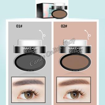 Candy Online Charm Eyebrow Powder Stamp #02 Light brown - 2
