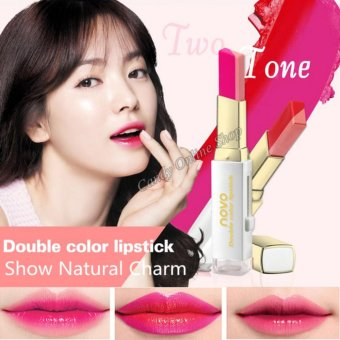 Candy Online Korea NOVO Double Color Lipstick Makeup Moisturizing Color Gradient Lipstick #6 - 4