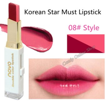 Candy Online Korea NOVO Double Color Lipstick Makeup Moisturizing Color Gradient Lipstick #8