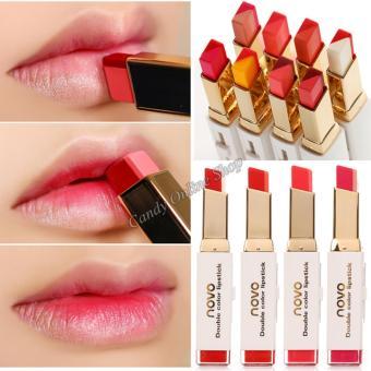 Candy Online Korea NOVO Double Color Lipstick Makeup Moisturizing Color Gradient Lipstick #8 - 5