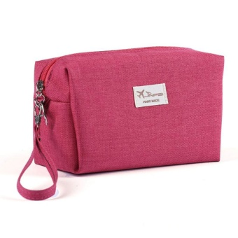 Canvas Women Cosmetic Toiletry Bag Clutch Handbags Makeup Make upOrganizer Pouch Bag For Travel Trip Carry-on Companion Zipper -intl