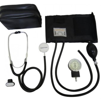 Care&Cure Blood Pressure Monitor Sphygmomanometer withStethoscope Set (Black) Price Philippines