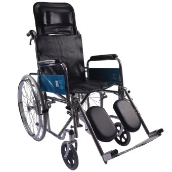 Care&Cure Heavy Duty Chrome Reclining Wheelchair (Silver) Price Philippines