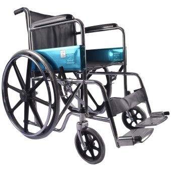Care&Cure Heavy Duty Steel Wheelchair with Sporty Fiberglass Mag Wheels (Black) Price Philippines