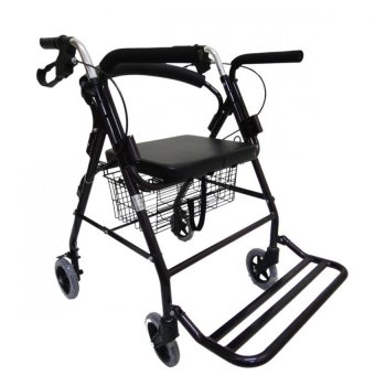 Care&Cure Medical Walker Rollator with Seat, Wheels and FootRest (Metalic) Price Philippines