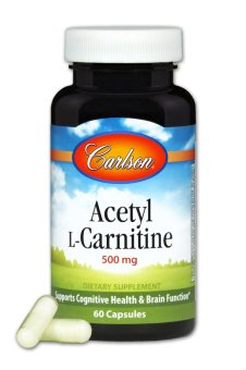 Carlson Acetyl L-Carnitine 500mg Bottle of 60 Capsules