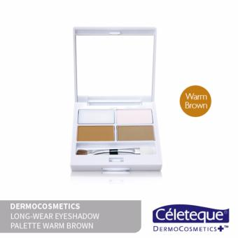 Céleteque Dermocosmetics Long-wear Eyeshadow Palette (Warm Brown)