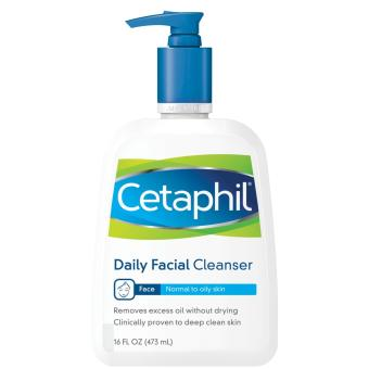 Cetaphil Daily Facial Cleanser, For Normal to Oily Skin, 16 oz
