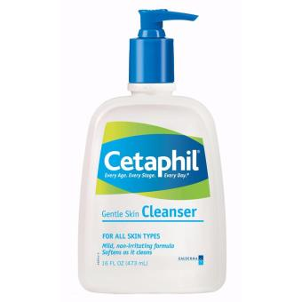 CETAPHIL GENTLE SKIN CLEANSER - FACE & BODY FOR ALL TYPES OF SKIN - 16oz (473ml)