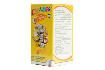 Champs C Chewable Ascorbic Acid (Orange Flavour) for Kids - 2