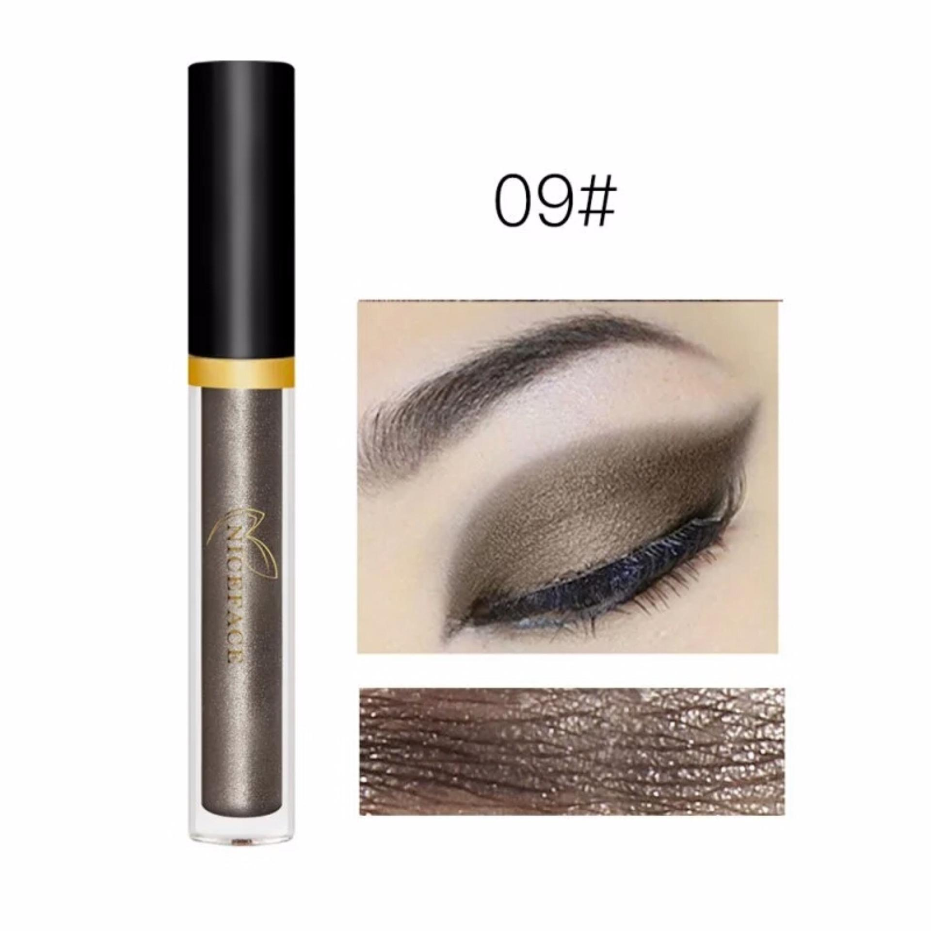 Charcoal Metallic Pearl Shimmer Glitter Eye Shadow Cat Eye Makeup Nice Face Philippines