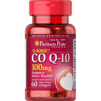 CO Q-10 Q-SORB for Healthy Heart, 100 mg 60 softgels, Puritan'sPride