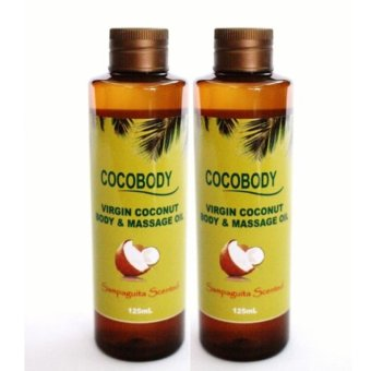 Cocobody, Virgin Coconut (VCO) Body & Massage Oil Sampaguita125ml x 2pcs