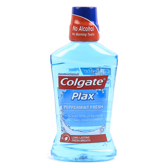 Colgate Plax Peppermint Fresh (Light Blue) Alcohol-Free* Mouthwash 500ml