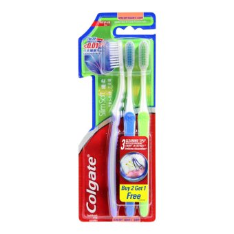 Colgate Slim Soft Tri-Tip Toothbrush (Ultra Soft) Buy 2 Get 1 FREE