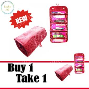 COSMETIC BAG ROLL-N-GO RED Buy 1 Take 1