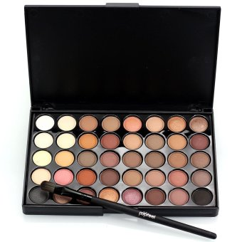 Cosmetic Matte Eyeshadow Cream Eye Shadow Makeup Palette Shimmer Set 40 Color! - intl