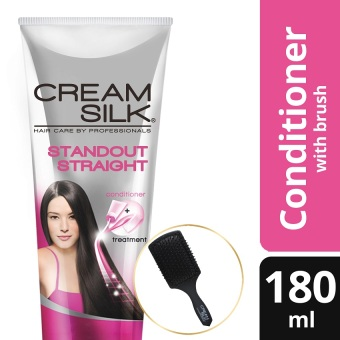 Cream Silk Triple Expert Rescue Standout Straight Conditioner 180ml with Free Brush
