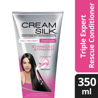 Cream Silk Triple Expert Rescue Standout Straight Conditioner 350ml .
