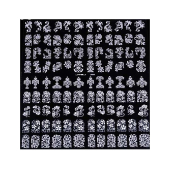 Cyber 108 In 1 Stamping 3D Nail Art Stickers Decals Decoration Tool(White)