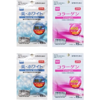 Daiso COLLAGEN (30 tablets) + BEAUTY WHITE (30 tablets) SET of 2