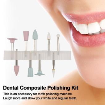 Dental Composite Polishing Kit Light-cured Resin Teeth PolishingSet for Low-speed Handpiece RA 0309 9 Grinding Heads - intl