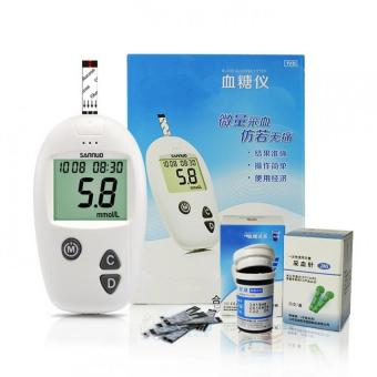 Diabetic Household Blood Glucose Monitor set 50pcs strips 50pcs Needles Lancets Blood Sugar Tester Detection Meters glucometer - intl