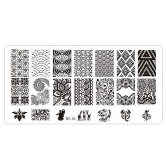 DIY Steel Plate Nail Art Design Lace Stamping Manicure Image PrintPlates Stencil Template Nail Polish Tool
