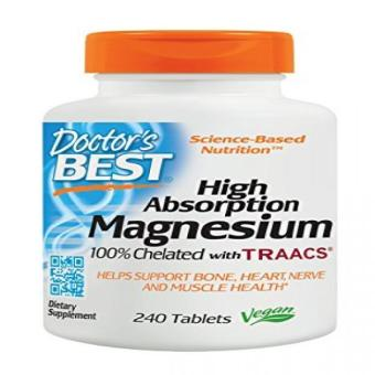 Doctor's Best High Absorption Magnesium Glycinate Lysinate100%ChelatedNon-GMOVeganGluten FreeSoy Free 200 mg240 Tablets Price Philippines