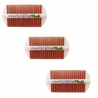 Double Sided Wooden Combs for Head Lice Comb Set of 3