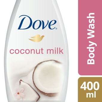 DOVE BODY WASH COCONUT MILK 400ML .