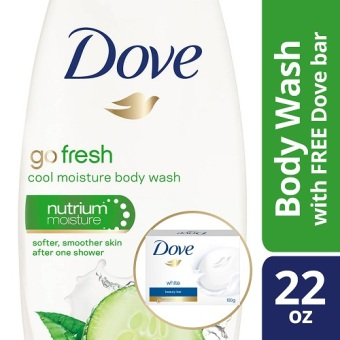 Dove Body Wash Cool Moisture 22oz with Free Dove Bar White 4oz Price Philippines