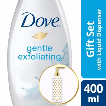 DOVE GENTLE EXFOLIATING BODY WASH 400ML WITH FREE PUMP .