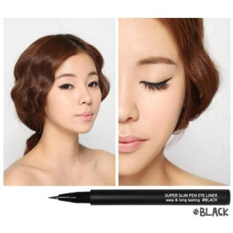 Easy and Longlasting No Mess Smudge Free Super Slim Eye Liner Pen(Black) Price Philippines