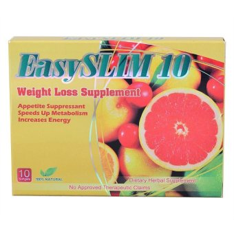 EasySLIM 10 400mg Weight Loss Capsules Blister Pack Box of 10