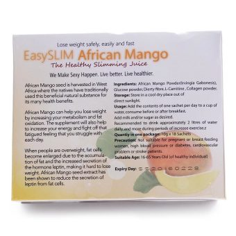 Easyslim African Mango Slimming Juice 10g Sachet, Box of 18 - picture 2