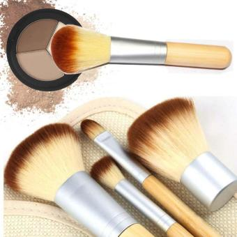 Eco Tools BAMBOO Makeup Brush Set 4 Pcs Make Up Brushes Tools Eyebrow Brushes Yellow - Intl