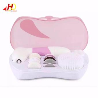 Electric Rotating Facial Cleaner Set JR-CY132 (Pink) - 5