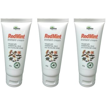 Essensa Naturale Red Mint Liniment Cream 50g Set of 3