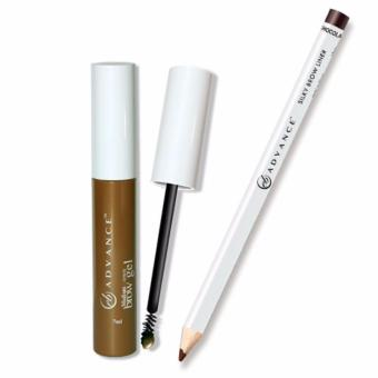 EVER BILENA ADVANCE BROW GEL AND SILKY BROW PENCIL (MEDIUM BROWNAND CHOCOLATE)