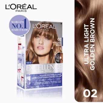 Excellence Fashion Ultra Lights - 02 Golden Brown [World's No.1] by L'Oréal Paris [w/ Protective Serum & Conditioner]