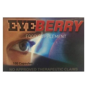Eye Berry Food Supplement Capsules Box of 100