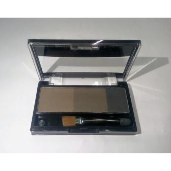 Eyebrow Powder Palette Cosmetic Makeup Shading Brush #02