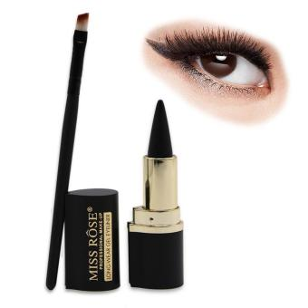 Eyeliner Brush And Lipstick Shape Black Long-lasting WaterproofCream Eyeliner gel Eye Liner Pen Pencil Makeup Cosmetic - intl