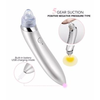 Facial Skin Care Acne Blackhead Remover Vacuum Suction Pore Clean Machine White - 2