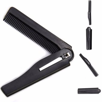 Fancyqube Handmade Folding Pocket Clip Hair Moustache Beard Comb -intl Price Philippines